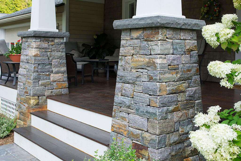 Champlain stone for American brick and stone